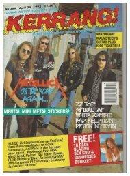 kerrang 389 april 25 1992