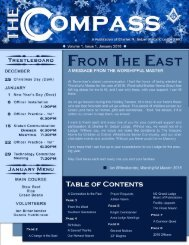 The Compass, Volume 1, Issue 1, January 2018