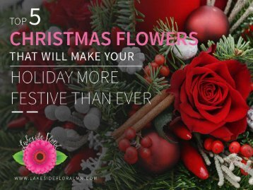 Top 5 Christmas Flowers – Contact Online Florist North St Paul