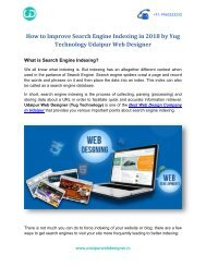 How To Improve Search Engine Indexing in 2018 by Yug Technology