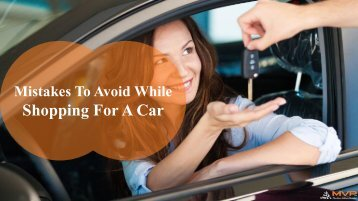 Common Mistakes People Make When Buying A Car