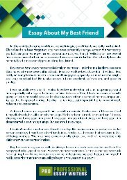 Essay About My Best Friend