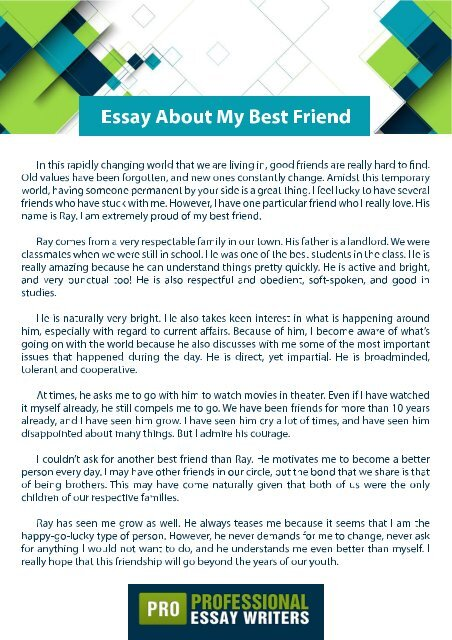 Essay On Healthy Eating Essay About My Best Friend English Essay Websites also High School Application Essay Examples Essay About My Best Friend Sample Persuasive Essay High School