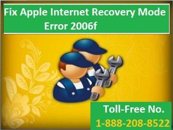 18882088522 How To Fix Apple Internet Recovery Mode Error 2006f?