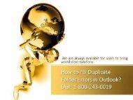 18002430019 Fix Outlook Duplicate Folder Errors