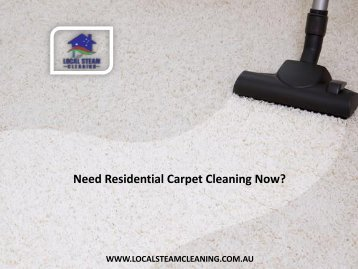 Need Residential Carpet Cleaning Now?