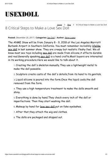 8 Critical Steps to Make a Love Sex Doll
