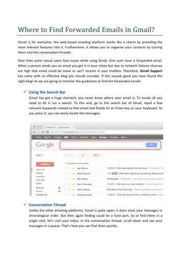 Where to Find Forwarded Emails in Gmail