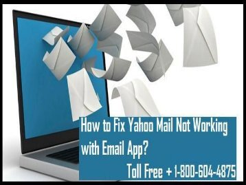 How to Fix Yahoo Mail Not Working With Email App? 18006044875