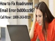 18552054286 Fix Roadrunner Email Error 0x800ccc90