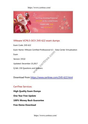 VMware VCP6.5-DCV 2V0-622 exam dumps
