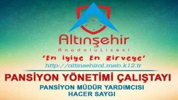 Adıyaman Altınşehir Anadolu Lisesi - Pansiyon Yönetimi Çalıştayı