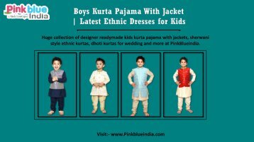 Designer Kurta Pajama for Children Online | Kids Ethnic Dresses