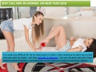 Book Model call girl or escorts in Chennai on New Year