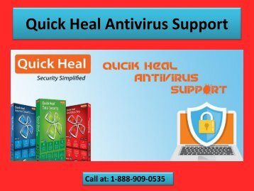 Quick Heal Antivirus Support Number 1-888-909-0535