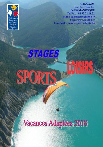 CATALOGUE STAGES 2018