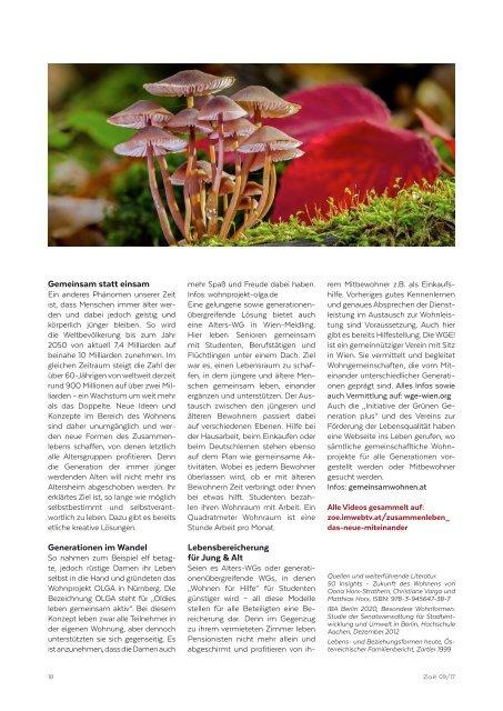 Zoë 09/17 Kreative Formen des (Zusammen)Lebens – Das neue Miteinander