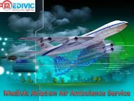 Emergency Air Ambulance Service in Varanasi by Medivic Aviation Air Ambulance