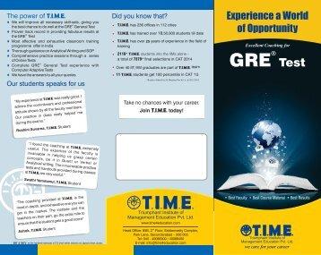 Best GRE Coaching Institute in Bangalore - T.I.M.E