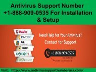 1-888-909-0535 Antivirus Support Number