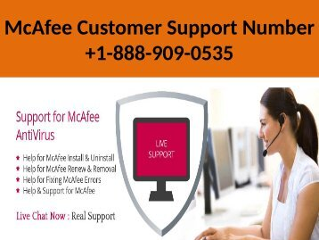 1-888-909-0535 McAfee Customer Support Number