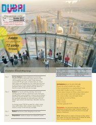 DXBDOTW SIC Tour Packages valid from Nov17 to Jan18