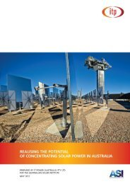 Realising the Potential of Concentrating Solar Power in Australia
