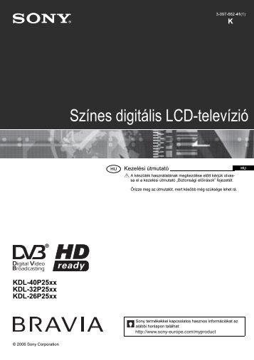 Sony KDL-32P2520 - KDL-32P2520 Mode d'emploi Hongrois