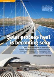 Solar process heat is becoming sexy