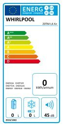 KitchenAid 20TM-L4 A+ - 20TM-L4 A+   (858643038010) Etichetta