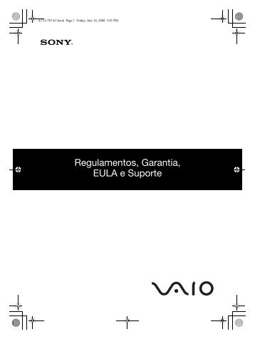 Sony VGN-TT11VN - VGN-TT11VN Documents de garantie Portugais