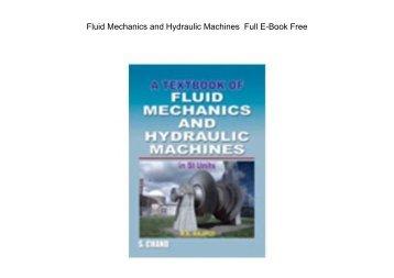 Fluid Mechanics and