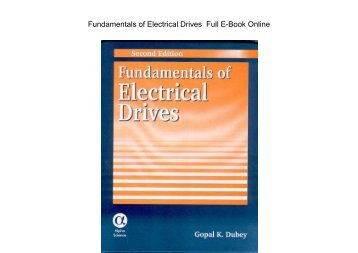Fundamentals of Electrical