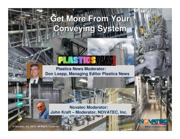 Get More From Your Conveying System - Plastics News
