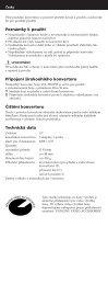 Sony VCL-HG0758 - VCL-HG0758 Consignes d'utilisation Tchèque - Page 2