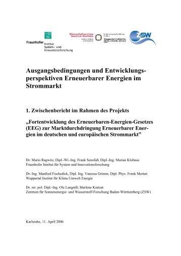 perspektiven Erneuerbarer Energien im Strommarkt - Kommunale ...