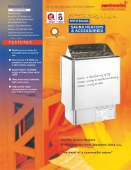 Sauna bath catalog 2015