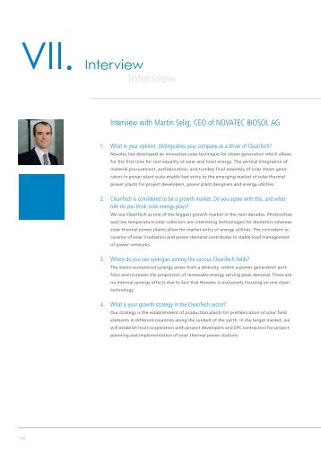 Interview with Martin Selig, CEO of NOVATEC BIOSOL AG