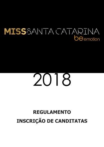 MISS SC BE EMOTION 2018 - Regulamento para Inscrição de Candidatas - Final