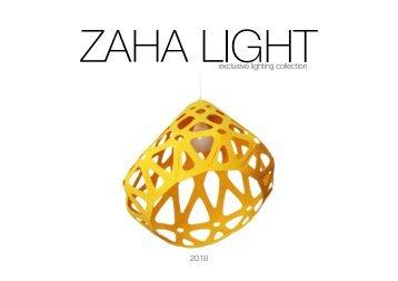 ZAHA LIGHT catalog  2018 $