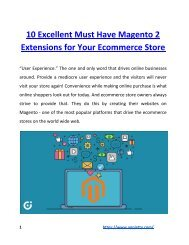 10 Excellent Must Have Magento 2 Extensions for Your Ecommerce Store