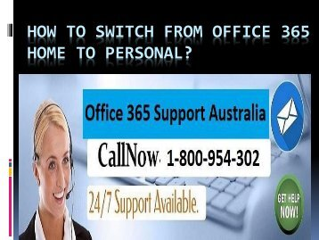 How To Switch From Office 365 Home To Personal?