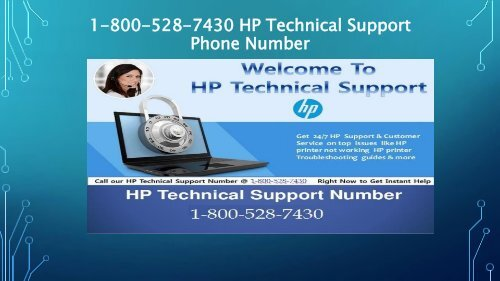 1-800-528-7430 HP Technical Support Phone Number