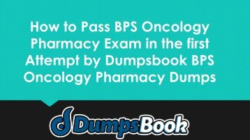 BPS Oncology Pharmacy Exam Dumps