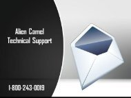 Alien Camel Technical Support Number 18002430019 For Assistance