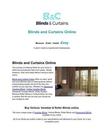 Easy Way To Buy Blinds and Curtains Online
