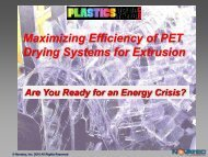 Maximizing Efficiency of PET Drying Systems for ... - Plastics News