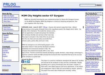 M3M City Heights Gurgaon