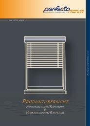 Produktübersicht AussenjAlousie/rAffstore ... - perfecta Rolladen