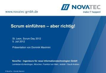 NovaTec Unternehmensprofil - Scrum Day